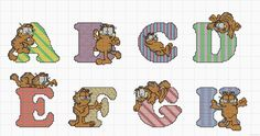 Garfield alphabet chart 1