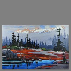 www.dianapaul.com images artists n_bott 2010_show slides autmumn_mist_salmon_glac.gif Landscape Quilts, Landscape Art, Landscape Paintings, Oil Painting Pictures, Paintings I Love, Waterfall Paintings, Mountain Paintings, Country Art, Canadian Artists