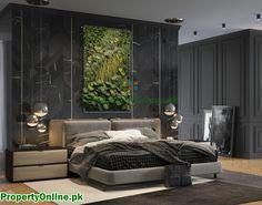 Colorful Bedroom Designs & Ideas Latest Bedroom Design, Modern Bedroom Design, Bed Design, House Design, Bedroom Designs, Arty Bedroom, Bedroom Red, Master Bedroom, Feature Wall Bedroom