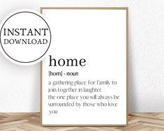 Home Definition Print Big Brother Quotes, Brother Humor, Little Boy Quotes, Brother Birthday Quotes, Birthday Gifts For Brother, Brother Brother, Bob Marley, Quote Prints, Wall Art Prints