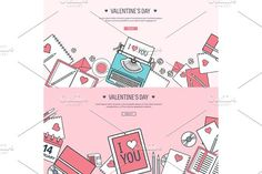 Vector illustration. Flat background with typewriter. Love, hearts. Valentines day. Be my valentine. 14 february. . Vintage Design