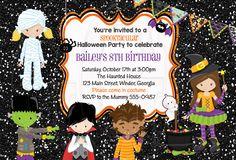 Costume Kids Party Birthday Invitation-Digital File by graciegirldesigns77 on Etsy