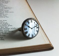 Clock Ring by EridaneasBoutique on Etsy