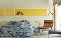 Photos bedroom in neutral colours (e)