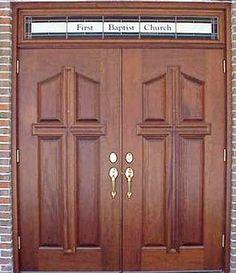 Swinging church doors opinion you