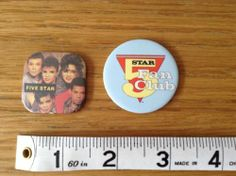 2 Retro FIVE STAR Badges 1980s Fan Club | eBay