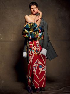 Publication: CR Fashion Book #5 Model: Saskia de Brauw Photographer: Julien d'Ys Fashion Editor: Carine Roitfeld Make-up: Asami Taguchi