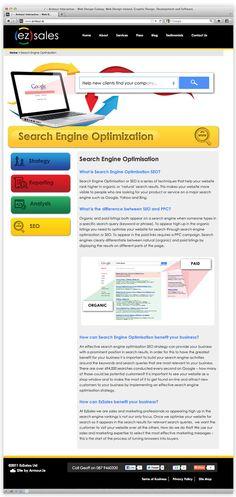 ez sales by Andrew Dewdney , via Behance Sales Strategy, Search Engine Optimization, Online Marketing, Seo, Web Design, Behance, How To Plan, Design Web, Website Designs