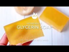 Perfect for sensitive skin, this homemade glycerin soap recipe makes a hard bar of soap that lathers nicely while gently cleansing and moisturizing. Coconut Oil Soap, Honey Soap, Diy Beauty Soap, Skin Whitening Soap, Glycerin Soap, Castile Soap, Exfoliating Soap, Essential Oils Soap, Homemade Soap Recipes