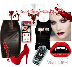 Sexy vampire costume costumepedia vampire costumes diy vampire costume diy halloween costume vampire by smashinbeauty featuring emo shirts solutioingenieria Image collections