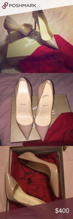 Nude Christian Louboutin heels Nude Christian Louboutin heels, only wore once. Christian Louboutin Shoes Heels