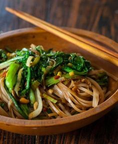 Satay Noodles and Greens - Steamy Kitchen Recipes