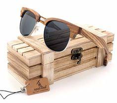 733ff0a1c9 BOBO Polarized Bamboo Wood Sunglasses