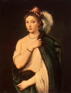 Portrait of a Young Woman  --  1536  --   Titian  --  Oil on canvas  --  The Hermitage Museum  --  St. Petersburg, Russian