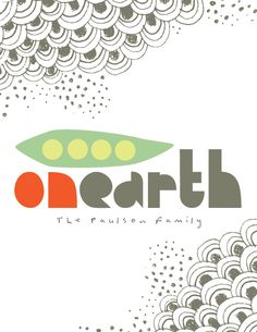"""""""Peas On Earth"""" personalizable holiday card"""