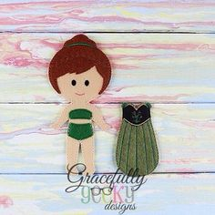 Annie Dress up Outfit (OUTFIT ONLY)- to fit GGD Dress up dolls - Embroidery Design 5x7 hoop or larger