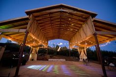 Backyard Style Rustic Wedding. Darrel needs to build this for us!