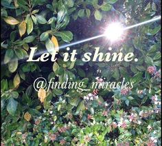 Let it Shine    Motivation Inspiration Finding  Miracles Quotes Spiritual Positive