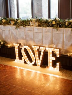 LOVE sign: http://www.stylemepretty.com/2015/03/02/navy-ontario-golf-club-wedding/ | Photography: When He Found Her - http://whenhefoundher.com/
