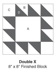 Double X, part of Quilter's World's FREE Quilt Block of the Month. Get the download here: http://www.quiltersworld.com/Quilt_Block/?id=26&source=fcebkqw