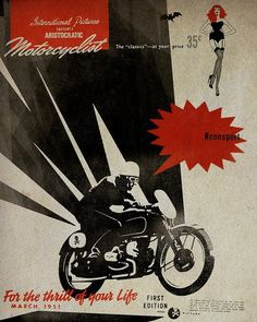 Love the old motorcycle posters.