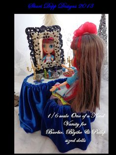 One of a Kind Handmade  1/6 scale Vanity Set by ShariDeppDesigns, $48.00