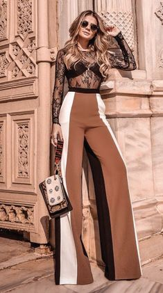 Spring And Summer Clothing Inspiration For Women 2018 18 - Hosen Look Fashion, Fashion Pants, Fashion Dresses, Womens Fashion, Fashion Design, Classy Outfits, Stylish Outfits, Elegantes Outfit, Mode Hijab