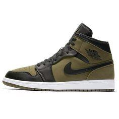 389dc43065f6 Nike Air Jordan 1 Mid Olive Canvas - The Darkside Initiative