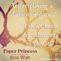 Made by Red Cheeks Reads Royals Series, Red Cheeks, Dangerous Games, Fan Art, Reading, Words, Quotes, Life, Paper