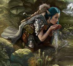 Fantasy Races, Fantasy Warrior, Fantasy Rpg, Medieval Fantasy, Fantasy Artwork, Elf Warrior, Dungeons And Dragons Characters, Fantasy Characters, Female Characters