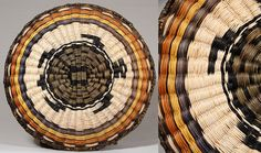 Hopi Third Mesa wicker plaque w/turtle design, artist unknown.