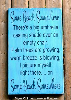 Beach Decor Wood Sign Some Beach Somewhere Jimmy Buffet – The Sign Shoppe