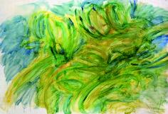 Jean Messagier Sans Titre ( vert / jaune ) Galerie D'art Moderne, Paris 13, Painting, Artist, Painting Art, Paintings, Painted Canvas, Drawings