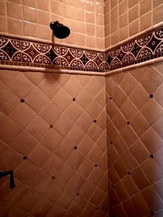 Mexican Tile and Stone Company imports clay, ceramic and custom tiles | Gallery...might consider a pattern like this for the backsplash with the Mexican tile along the counter.