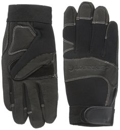 Carhartt Women's Dex II High Dexterity Work Glove with Leather Palm and Knuckle Protection, Black Winter/White Rose Stitching, Medium