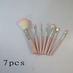 luxury mac hello kitty 7 pieces pink brush set cosmetics
