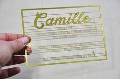 Geboortekaart Lasergesneden Camille
