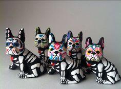 'Dia de Los Muertos', French Bulldog Style.