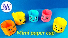 How to make Origami MINI CUP/DIY Paper Crafts /Easy origami paper cup /Origami