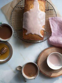 Vanilla Bean Pound Cake with Pomegranate Glaze