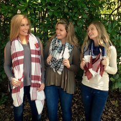 Blanket scarves are fall must haves!! @fabfindsbtq