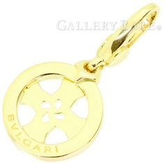 BVLGARI-Necklace-Top-Tondo-Cross-Byzantine-Charm-Yellow-Gold-Authentic-3212813