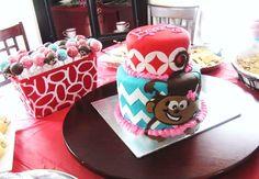 Girl Monkey Birthday Cake at NashvilleSweets.com