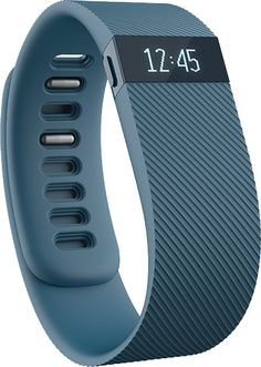 Energize your day with Charge—an advanced activity wristband that tracks your steps taken, distance traveled, calories burned, floors climbed and active minutes.