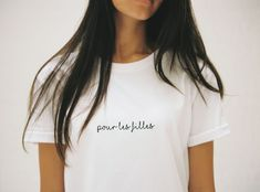 pour les filles — The Mews Girls Tees, Classic Looks, Shop Now, Shirt Designs, Marriage, Bring It On, Gowns, T Shirts For Women, Bride