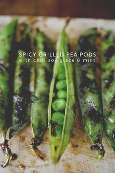 FLASHBACK FRIDAY: SPICY GRILLED PEA PODS WITH CHILI SOY GLAZE + MINT
