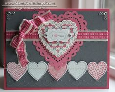 Canvas Creations Pink and Gray Valentine.  Instructions for that tiny label for SU My Little Valentine stamp