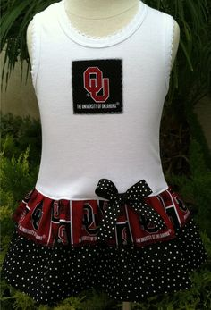 University of Oklahoma Tank Dress Available 03 by BabyThreadsByLiz, $23.00