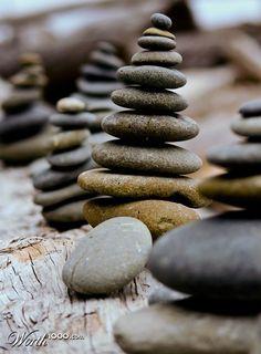 the balancing act, Jenga in reverse.