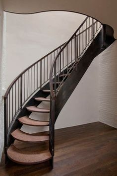 Elegantly Shaped Staircase / Clinton Hill, Brooklyn - eclectic - staircase - new york - JP Warren Interiors
